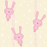 Rabbits seamless Royalty Free Stock Photos