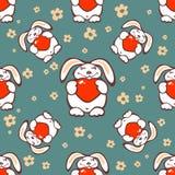 Rabbits seamless pattern Royalty Free Stock Photo