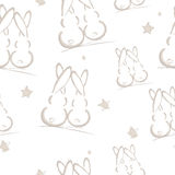 Rabbits, seamless pattern Royalty Free Stock Photography