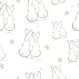 Rabbits, seamless pattern. Seamless illustration, rabbits, seamless  pattern Royalty Free Stock Photography