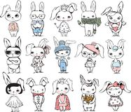 Rabbits Set Royalty Free Stock Photo