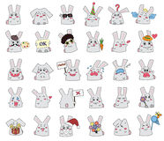 Rabbits set Royalty Free Stock Photos