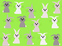 Rabbits springtime illustration Royalty Free Stock Image