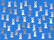 Rabbits springtime illustration Stock Image