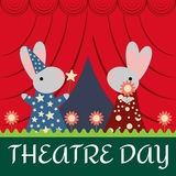 Rabbits on the Stage royalty free illustration