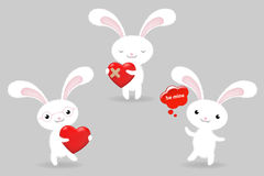 Rabbits. Vector Royalty Free Stock Images