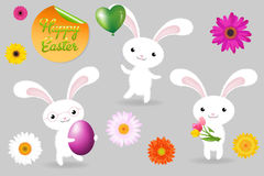 Rabbits. Vector Stock Photo