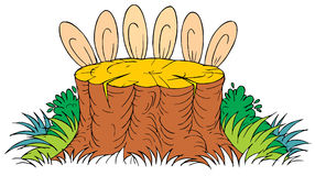 Rabbits (vector clip-art). Vector clip-art / children's illustration for your design Royalty Free Stock Image