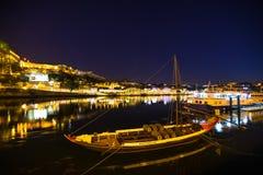Rabelo小船在夜之前 免版税库存图片