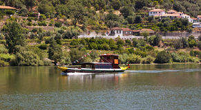 Rabelo boat. Traditional rabelo boat  at Porto de Rei in the Douro river in Porto, Portugal Royalty Free Stock Photography