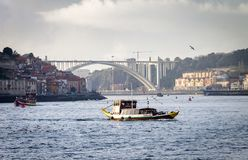 Rabelo Boat at Porto royalty free stock images