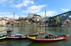 Rabelo Boat, Porto, Portugal Royalty Free Stock Photos