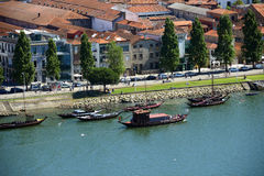 Rabelo Boat, Porto, Portugal Royalty Free Stock Photography