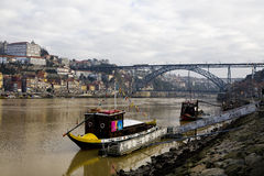 Rabelo Boats in Douro River Royalty Free Stock Photo