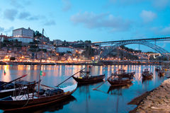 Rabelo boats in Porto, Portugal Royalty Free Stock Photography