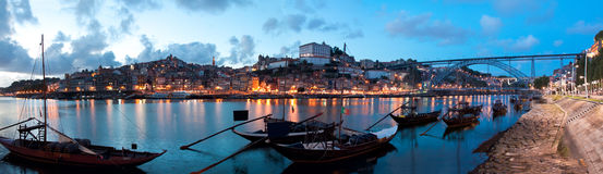Rabelo boats in Porto, Portugal Royalty Free Stock Images