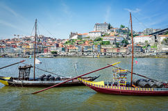 Rabelo Boats in Porto, Portugal Stock Photography