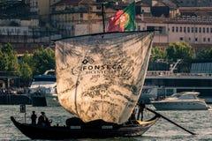 Rabelo-Boot von der Portweinmarke Fonseca Lizenzfreie Stockfotografie
