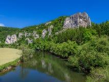 Rabenfelsen στον ποταμό Δούναβη Στοκ Εικόνα