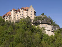 Rabenstein. German castle in Bavaria on a hill stock photo
