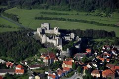 Rabi castle - air photo Stock Image