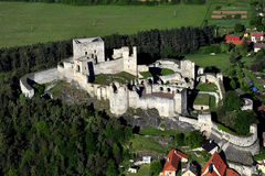 Rabi castle - air photo Royalty Free Stock Images