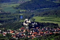 Rabi castle - air photo Royalty Free Stock Photography