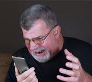 Rabia del teléfono móvil Imagen de archivo
