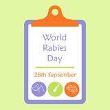 Rabies awareness day Stock Images