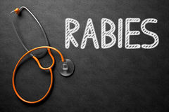 Rabies på den svart tavlan illustration 3d Arkivbilder