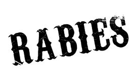 Rabies rubber stamp Stock Images