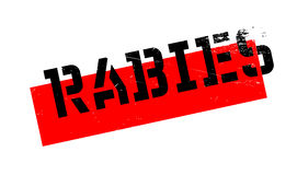 Rabies rubber stamp Royalty Free Stock Images