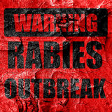 Rabies virus concept background Royalty Free Stock Images