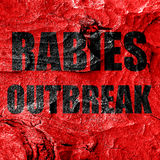 Rabies virus concept background Royalty Free Stock Image