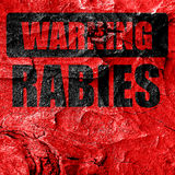 Rabies virus concept background Royalty Free Stock Photos