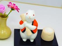 Rabiit z japońskim stylem Zdjęcia Royalty Free