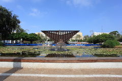 Rabin Square with Holocaust Monument Stock Photos