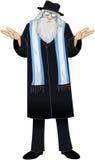Rabin Z Talit Jest Niepewny royalty ilustracja
