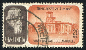 Rabindranath Tagore and building Stock Photos