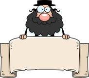 Rabino Banner de la historieta Imágenes de archivo libres de regalías