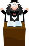 Rabino Sermon de la historieta Imágenes de archivo libres de regalías