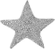 Rabiscar a página da coloração da estrela para adultos e crianças Círculo ornament ilustração royalty free