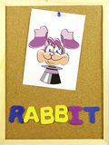 Rabitt word on a corkboard Stock Images