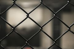 Metal mesh netting close-up. Rabitz. Close up. Gray background. Abstraction Royalty Free Stock Photography