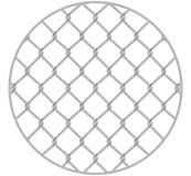 Rabitz. Progressive protective mesh of thick chrome wire that cannot be eroded. Modern round background.  vector illustration