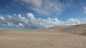 Rabjerg Mile is a migrating coastal dune between Skagen and Frederikshavn, Denmark. It is the largest moving dune in Northern Europe with an area of around 2 stock video footage