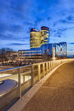 Rabo Bank Headquarters at twilight, Utrecht, Netherlands Royalty Free Stock Images