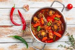 Rabo de托罗或牛尾炖煮的食物 免版税库存照片