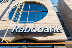 Rabobank branch. Rabobank is the second-largest bank in the Netherlands in terms of total assets Stock Photos