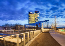 Rabobank headquarters at twilight, Utrecht, Netherlands Stock Images